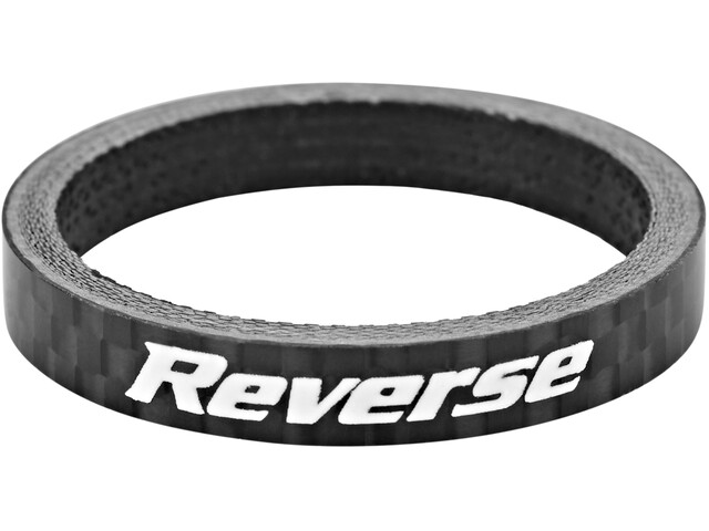 "Reverse Spacer 5mm Carbon 1 1/8"", black"